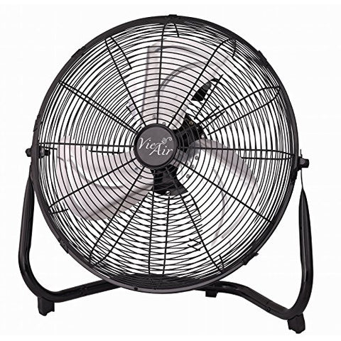 Vie Air Industrial High Velocity Tilting 3 Speed Heavy Duty Metal Floor Fan