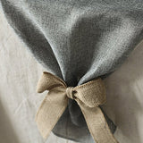 Ling'S Moment 14 X 156 Inch Gray Burlap Linen Table Runner With Bow Ties For Farmhouse Decor, Wedding Party Decor, Thanksgiving, Halloween, Christmas And Fall Decorations