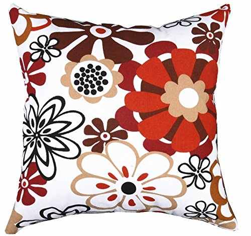 Multi Sized Both Sides Sketch Floral Printed Cushion Cover