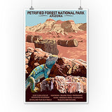 Petrified Forest National Park - Arizona (12X18 Art Print, Wall Decor Travel Poster)