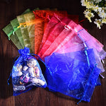 Lalago 100 Pcs Organza Wedding Favour Bags Gift Mini Jewelry Bags (Mixture)