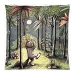 Larryeshop Where The Wild Things Are Decorative Printed Cotton Linen Throw Pillow 18 X18 Inch Cushion.