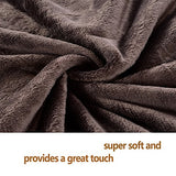 Shilucheng Fleece Soft Warm Fuzzy Plush Lightweight Twin (90-Inch-By-65-Inch) Couch Bed Blanket, Coffee