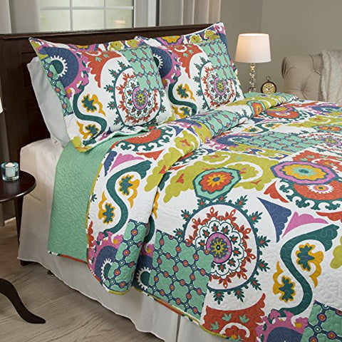 Lavish Home 2 Piece Sybil Quilt Set, Twin