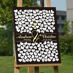 Black Wedding Guest Book Personalized Rustic Canvas Book Unique For Bridal Shower Baby Shower Alternative Wedding Heart Book With Guest Sign In 150 Hearts Guestbook Wedding Decorations Ready To Hang