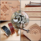 Practical Leather Tools Miusie 60 Pcs Complete Craft Sewing Kit For Beginner/Professional-Leather Crafting Kit For Bookbinding /Sewing/Leather Craft Diy/Leather Working/Leather Making
