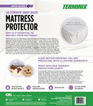 Terminix Ultimate Mattress Protector - 6-Sided Water-Resistant Zippered Encasement Blocks Bed Bugs, Dust Mites, Insects, & Allergens - Machine Washable - Lifetime Warranty - Up To 17 - (King)
