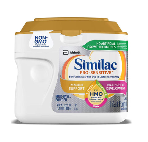 Similac Pro-Sensitive Infant Formula With 2-Fl Hmo For Immune Support, 22.5 Ounces, (Lid Color Varies)