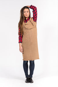 camel wool dress