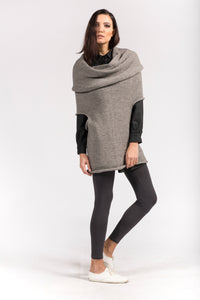 multifunctional lightgrey wool top