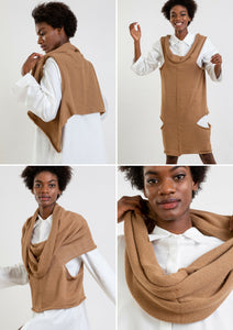 Elementum Multifunctional Alpaca clothing 4in1 vest dress top scarf