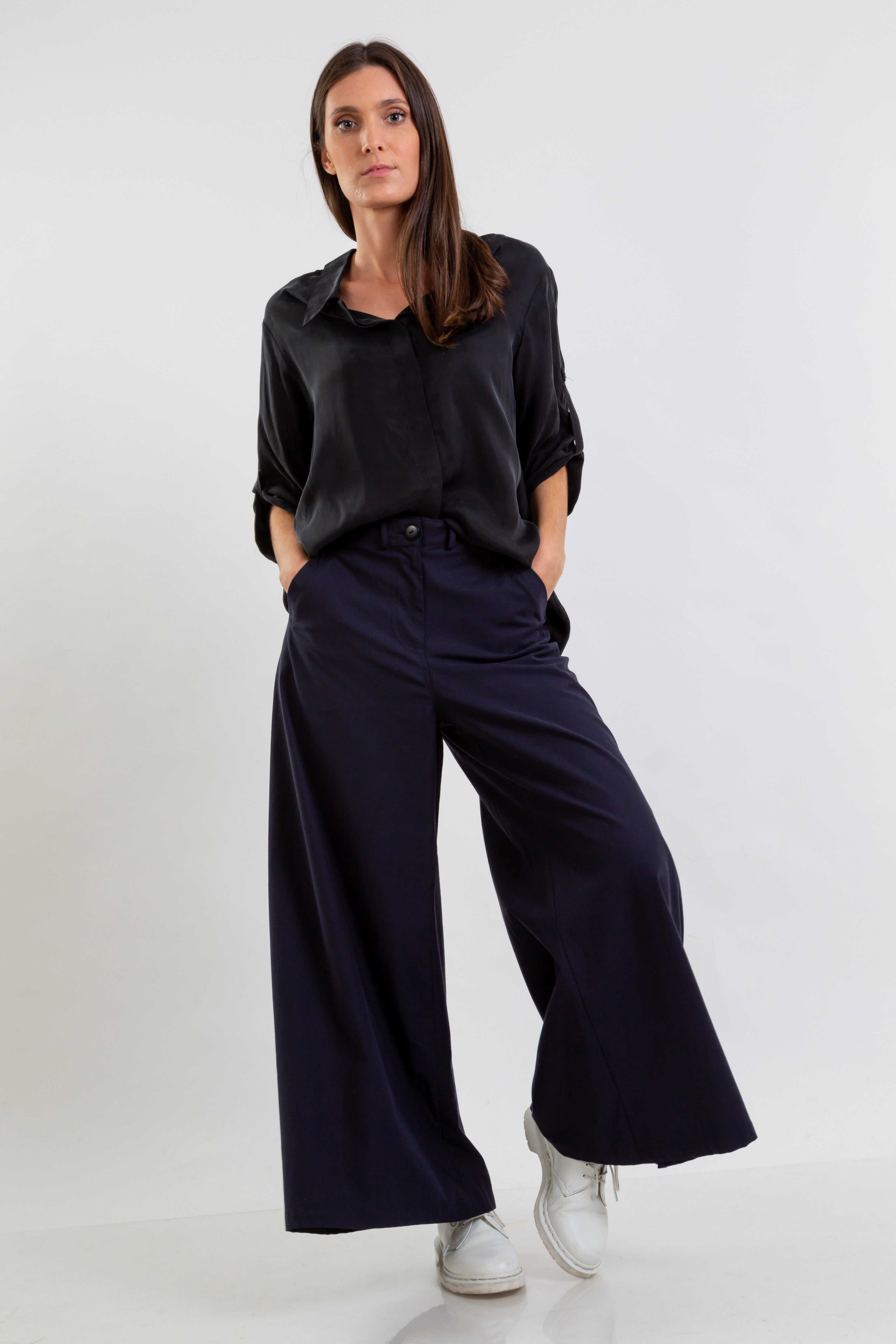 Lyocell WIDE trousers