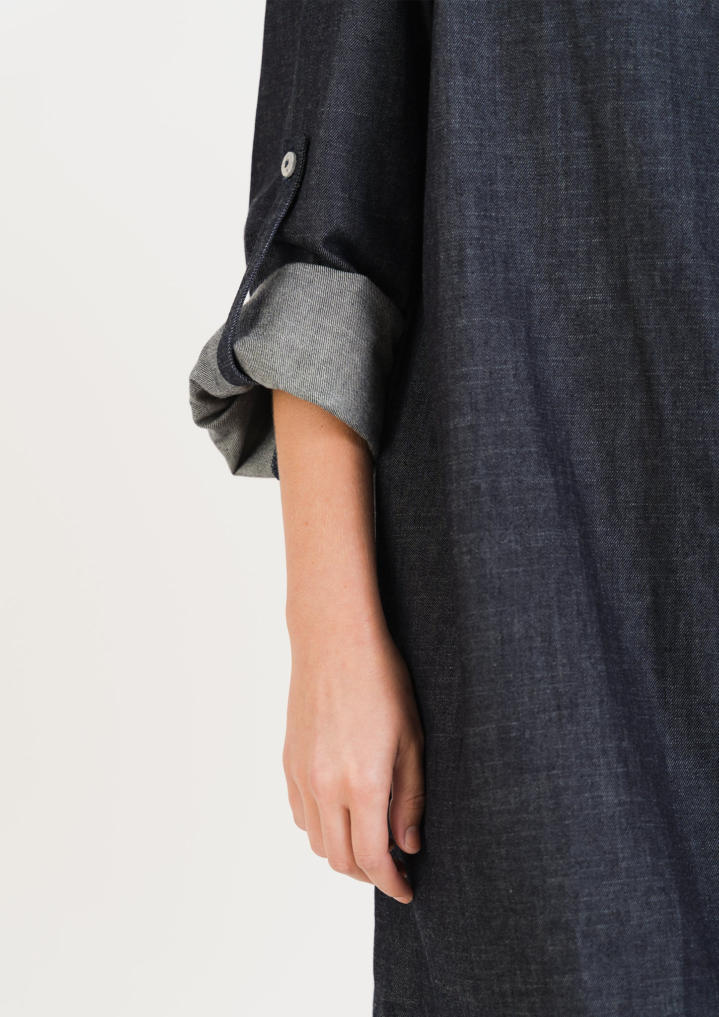 Organic Denim SHIRT DRESS