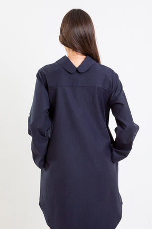 SHIRT Dress Lyocell Navy