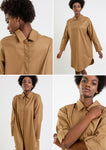 SHIRT Dress Lyocell Camel