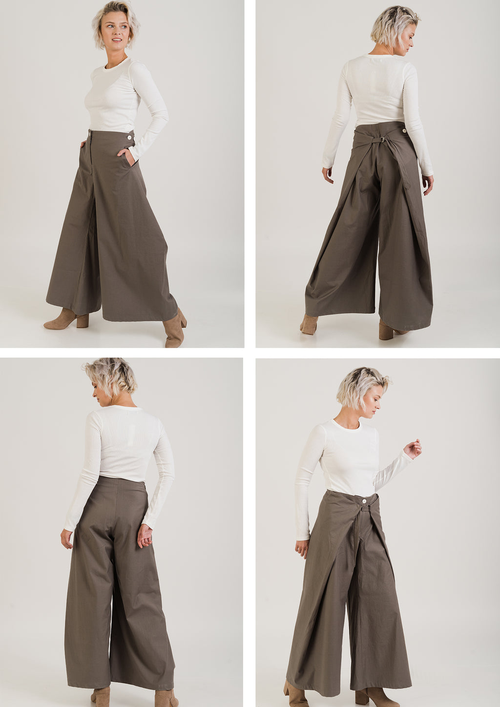 WIDE Trousers Dark Grey