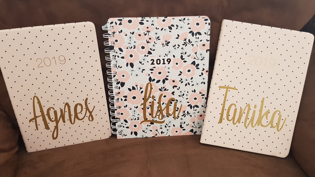 Name only for Diary or Notebook - Vinyl Decal