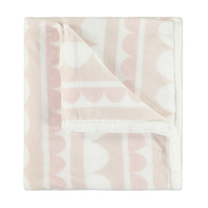 Personalised Baby Blanket - Scallop Fleece Blanket
