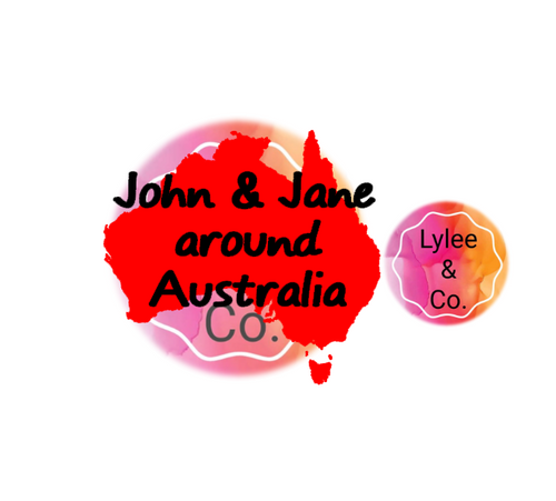 John and Jane around Australia Camper and Caravan Decal