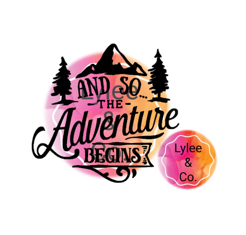 And so the Adventure Begins Camper and Caravan Decal