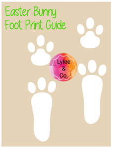Easter Bunny Foot Print Guide