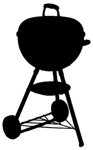 Clearance - BBQ Kettle Inspired Car Decal