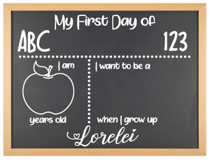 'My First Day Of' Milestone Board