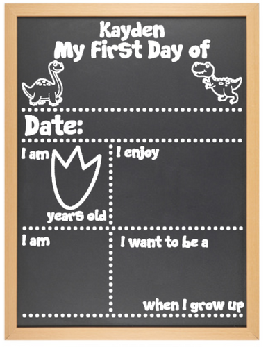 'My First Day Of' and 'My Last Day Of' Milestone Board Set