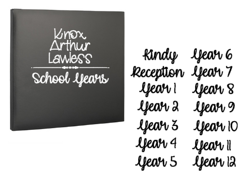 School Photo's Album Set - Album & Page decals