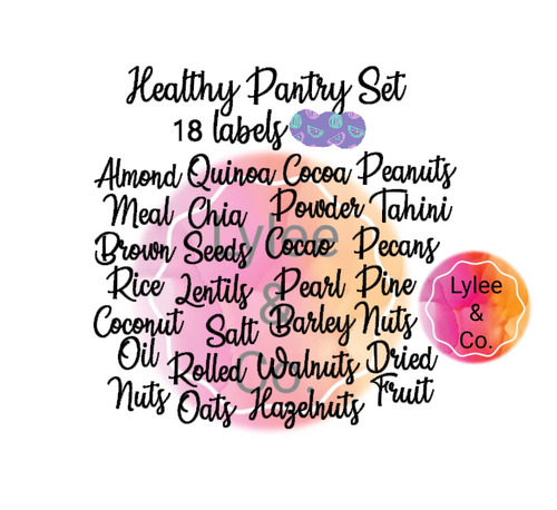 Healthy Pantry Labels Set