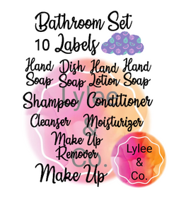 Bathroom Labels Set