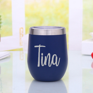 Insulated wine glass - personalised