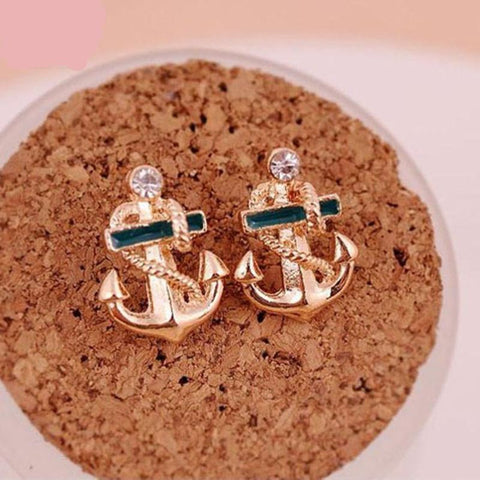 Anchor Stud Earrings - Pocketry