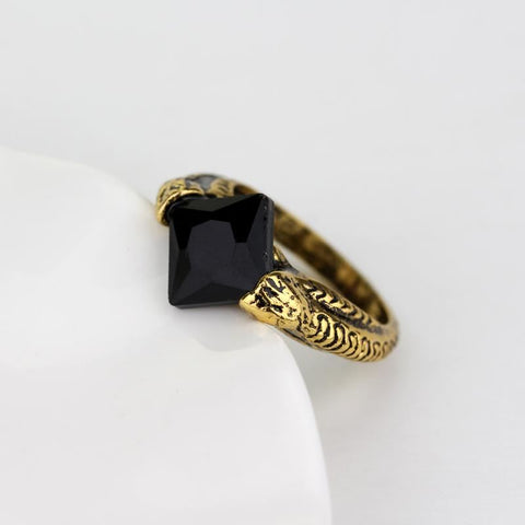 Antique Black Stone Ring - Pocketry