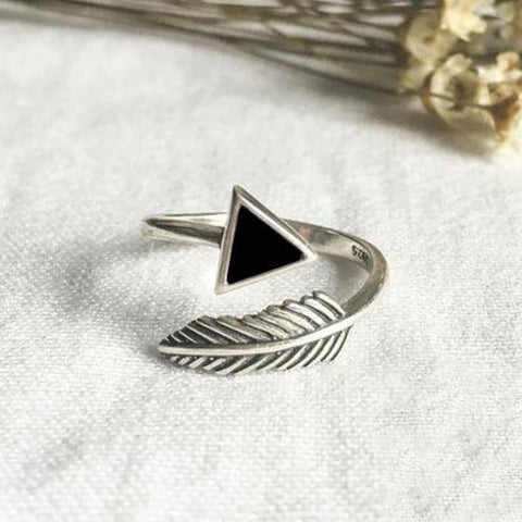 Arrow and Feather Adjustable Ring - Pocketry