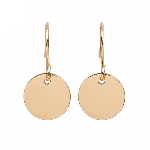 Disc Drop Earrings - Pocketry
