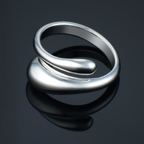 Drop Shaped Adjustable Ring - Pocketry