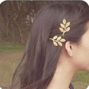 Five Leaf Gold Hair Clip - Pocketry