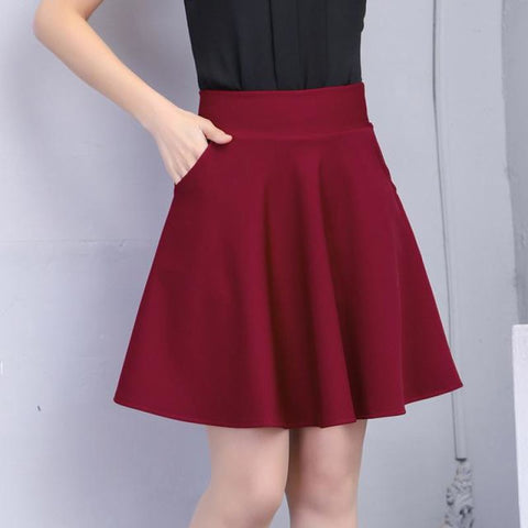 High Waisted Mini Skirt With Pockets - Pocketry