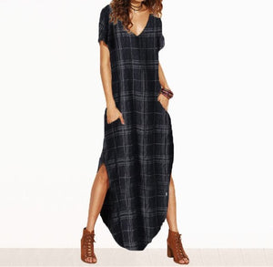 Maxi Boho Dress with pockets - Pocketry