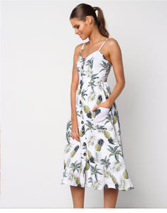 Pineapple and Summer Mix Dresses With Pockets - Pocketry