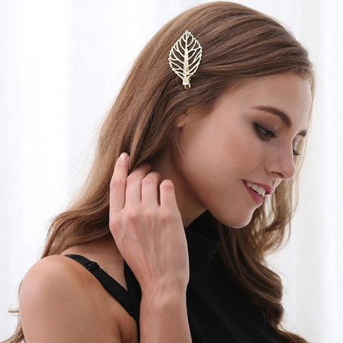 Leaf Outline Hair Clip - Pocketry