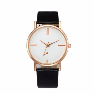 Leather Strap Quartz Watch - Pocketry