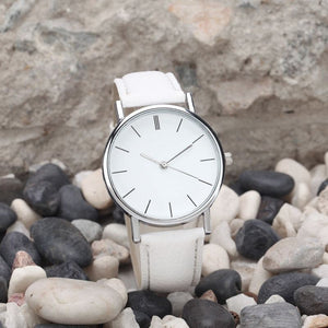 Leather Strap Stainless Steel Watch - Pocketry