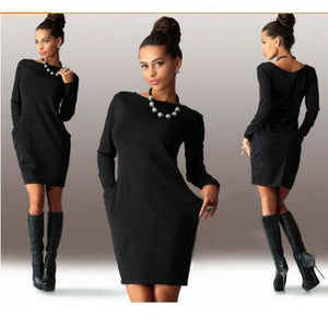Long Sleeve Dress With Pockets - Pocketry
