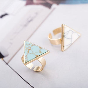 Marble Triangle Ring - Pocketry