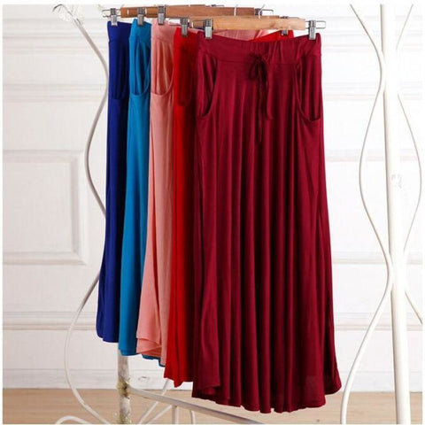 Maxi Length Beach Skirt With Pockets - Pocketry