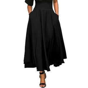 Maxi Length Skirt With Bow And Pocket Detail - Pocketry