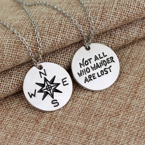 Not All Who Wander Are Lost Necklace - Pocketry