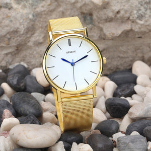 Gold Stainless Steel Band Watch - Pocketry